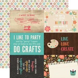4 X 6 Journaling Paper I D Rather Be Crafting Journal Cards Scrapbook Crafts Scrapbook Collection