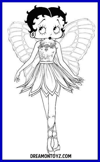 Betty Boop Coloring Pages For KidsColoring