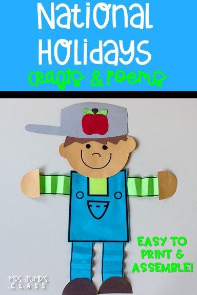 National Holidays CRAFTS & POEMS | Kindergarten Ideas