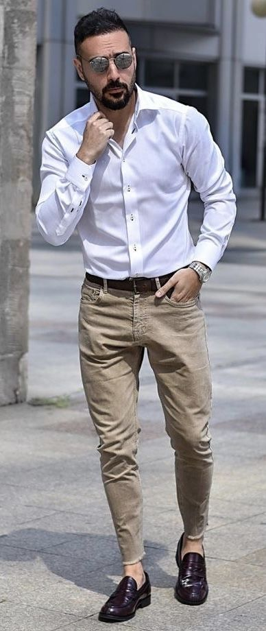 Mens casual outfits, Loafers men outfit