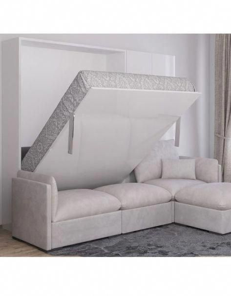 Murphysofa Adagio Queen Luxury Sectional Sofa Wall Bed In 2020 Murphy Bed Ikea Modern Murphy Beds Murphy Bed Plans