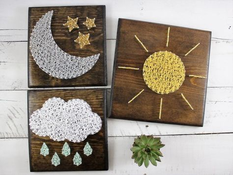 This Neutral Nursery Set String Art is just one of the custom, handmade pieces you'll find in our other assemblage shops.