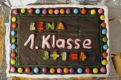 Tafel Kuchen Zur Einschulung Zum Schulanfang Von Cosma2202 Chefkoch Rezept Kuchen Einschulung Schulanfang Kuchen Tafel