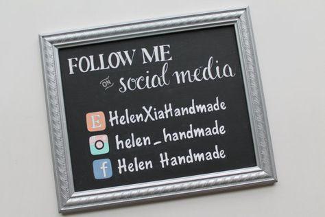 Items similar to Custom Listing for Nikki | Hand Painted Vendor/Business Social Media Sign | 8 x 10 | Black Chalkboard Finish on Etsy