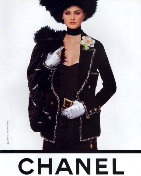 Trish Goff for Chanel, photo by Karl Lagerfeld, 1994