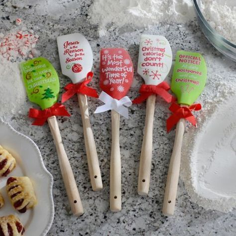$6.99 Silicone Christmas Spatulas | Kirklands TO USE WITH THE KITCHEN WREATH
