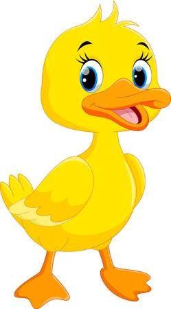 Dibujos Animados Lindo Pato Aislado Sobre Fondo Blanco Duck Cartoon Cute Cartoon Animals Duck Drawing