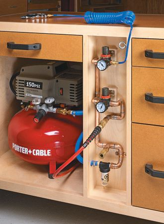 Mobile Air Tool Station | Woodsmith Plans - Keep your air