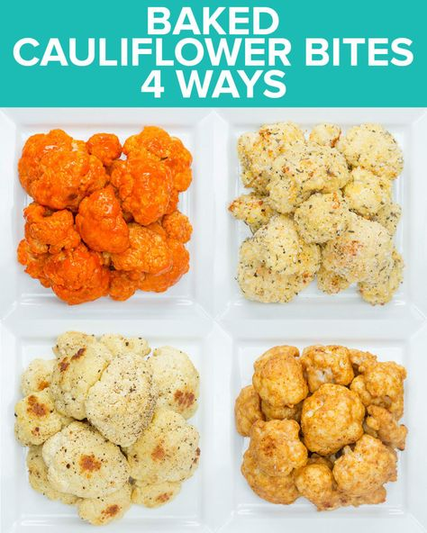 Which One Of These Baked Cauliflower Bite Recipes Would You Make For A Snack? Which One Of These Baked Cauliflower Bite Recipes Would You Make For A Snack? Healthy Bedtime Snacks, Healthy Superbowl Snacks, Healthy Afternoon Snacks, Quick Healthy Snacks, Quick Vegetarian Meals, Easy Healthy Recipes, Gourmet Recipes, Fast Recipes, Soup Recipes