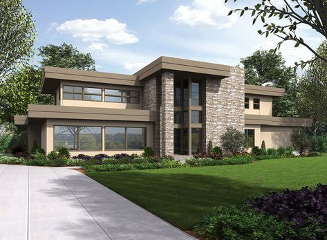 Plan 23624jd Luxurious Contemporary House Plan Contemporary House Plans Contemporary House House Plans