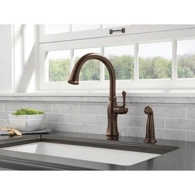 Delta Faucet 4297 Dst Delta 4297 Dst Cassidy Kitchen Faucet With Side Spray Chrome Kitchen Faucet Delta Faucets Single Handle Kitchen Faucet