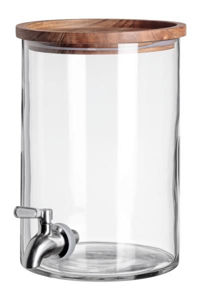 4 25 Qt Beverage Dispenser With Tap Clear Glass Home All H M