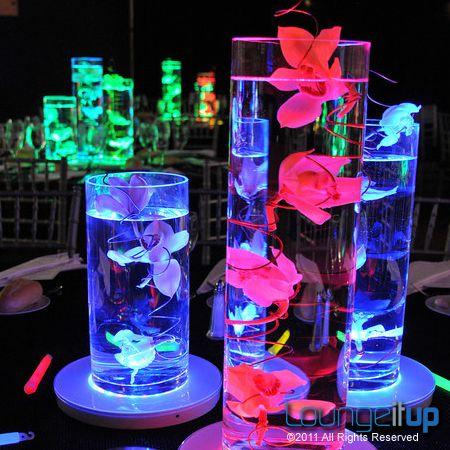 Good LED Centerpiece | Lounge It Up · Neon Party DecorationsQuince Decorations Lighted ...