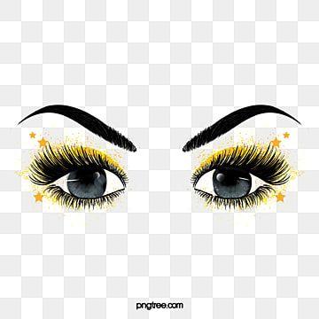 Pintado A Mano De Pestanas Gruesas Rizadas Negras Maquillaje De Ojos De Estrella Clipart De Ojos Pintado A Mano Rizo Png Y Psd Para Descargar Gratis Pngtre Makeup Clipart Makeup