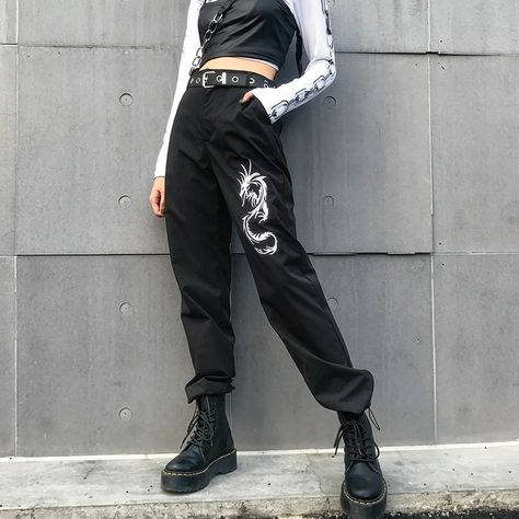 Shop Chinese Style Dragon Cargo Pants @ Ninja Cosmico! We offer FREE Worldwide Shipping!