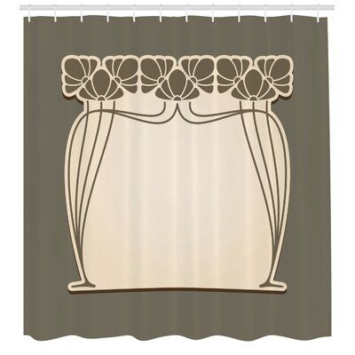 East Urban Home Ambesonne Art Nouveau Shower Curtain Flower