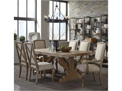 Equal Parts Urban Rustic And Sophisticated This Seven Piece Table And Chair Set Will Give Your Dining Room A Stunning Appearanc Broyhill Furniture Furniture Home