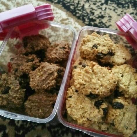 Resep Oat Cookies For Diet Eggless No Sugar Flourless Healthy Cookies Simple Step Oleh Erlivita Putri Resep Kue Sehat Resep Makanan Kue Kering
