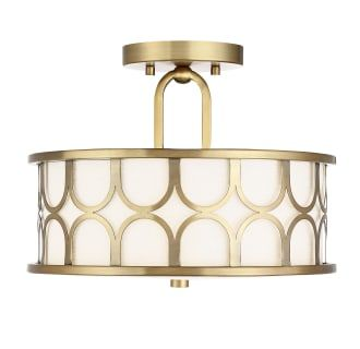 Bellevue Sh60015nb Natural Brass 2 Light 13 Wide Semi Flush Drum Ceiling Fixture Fabric Shades Semi Flush Mount Lighting Flush Mount Ceiling Lights