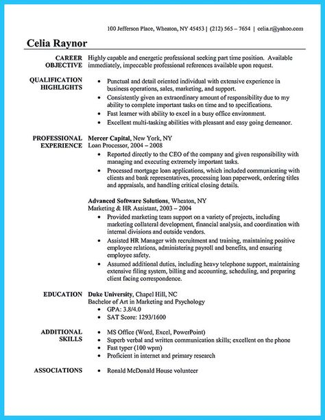 sales employee relation resume