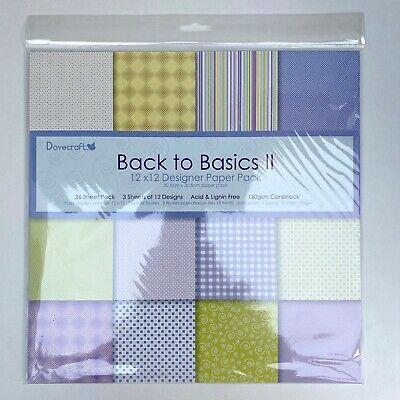 """Dovecraft 12/"""" X 12/"""" Designer Papier packs"""