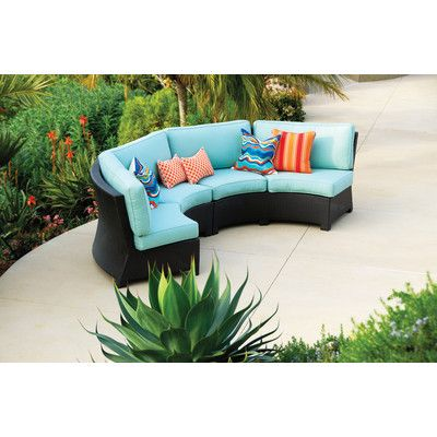 Looking at u0027Patio Republic Valencia Curved Outdoor Wicker Sectional Sofau0027 on SHOP.CA | *Patio Furniture* | Pinterest | Valencia Patios and Curves  sc 1 st  Pinterest : curved sectional patio furniture - Sectionals, Sofas & Couches