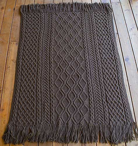 Ravelry: Mystery Afghan/Fireside Aran Afghan pattern by Janet Szabo