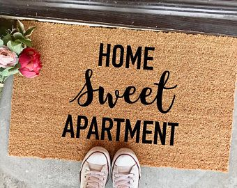 The Home Sweet Apartment Doormat 18 X30 Welcome Mat Decor Housewarming Gift New Cute Entryway Rug
