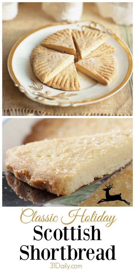 A Classic Scottish Shortbread 1 hour · Vegetarian · Mildly sweet, melt-in-your-mouth flaky, easy to make, improves as it ages -- a welcome accompanime Scottish Shortbread Cookies, Shortbread Recipes, Shortbread Cake, Scottish Recipes, Irish Recipes, Scottish Dishes, Scottish Desserts, British Food Recipes, Vegetarian