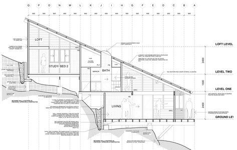 242 best archi terrain pente images on Pinterest Hillside house - plan de maison sur terrain en pente