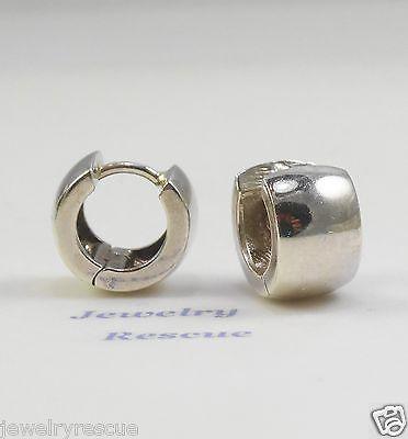 Silpada 925 Sterling Silver Clic Huggie Hoop Earrings P0674 Retired Rare