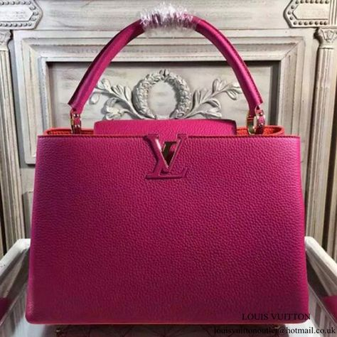 3b13fc13f11b Louis Vuitton M95508 Capucines MM Tote Bag Taurillon Leather