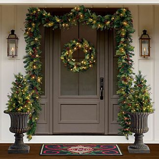 Winter Wonder Bundle 5 Piece Set Frontgate Outdoor Christmas Decorations Christmas Decorations Christmas Porch Christmas Entryway