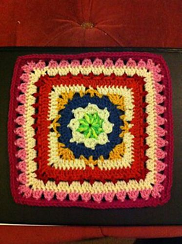 """Day 30: 12"""" Block of the Day - Winter Dream 12 Inch Square by April Moreland  Free Pattern: http://www.ravelry.com/patterns/library/winter-dream-12-inch-square  #TheCrochetLounge #12inch #grannysquare Pick #crochet"""