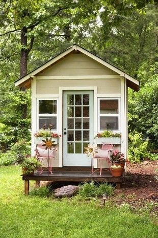a petite garden shed sits in the back of katie and derrill darbys greenville - Garden Sheds Greenville Sc