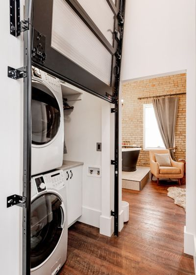 Industrial Laundry Room By Haven Builders Inc Small Laundry Room