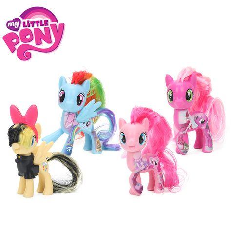 2018 8cm My Little Pony Toys Friendship Is Magic Pinkie Pie Rainbow Dash Fluttershy Songbird Serenade Pvc Action Figure Rainbow Dash My Little Pony Fluttershy