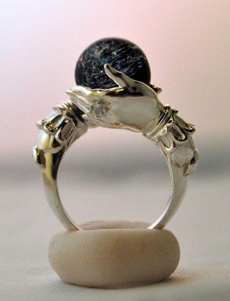 Omnia Oddities Jewelry: Celestial Galaxy Oracle Ring