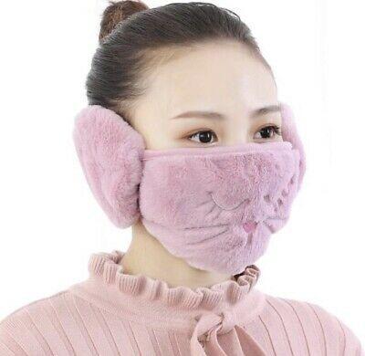 Women 2 in 1 Mask Earmuffs Cartoon Cat Winter Warm Ear warmer Apparel    eBay   Women's earmuffs, Earmuffs, Outdoor wear
