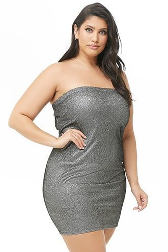 Plus Size Metallic Tube Dress in 2019 | Products | Dresses, Tube ...