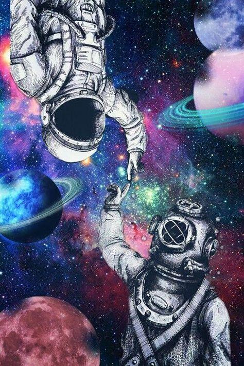 planet astronaut galaxy - Image by Lizeth Colunga