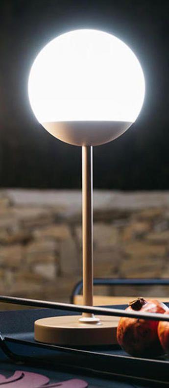 Baladeuse, d'extérieur, Moon, jaune miel, LED, Ø15cm, H41cm