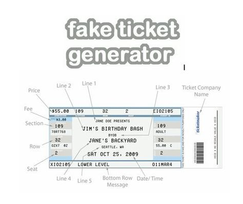 fake ticket generator create your very own novelty concert ticket