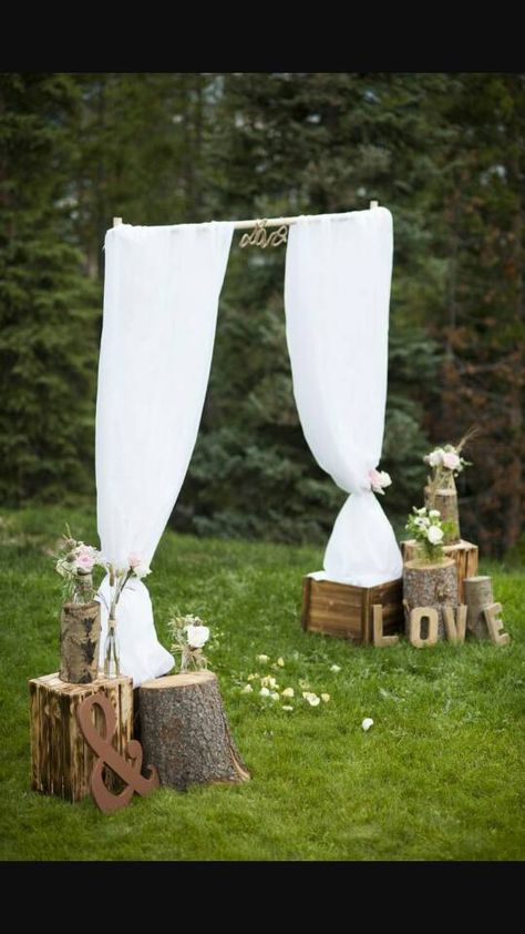 fab rustic outdoor wedding arbor ideas wedding decorations reception 25 Chic and Easy Rustic Wedding Arch Ideas for DIY Brides Outdoor Wedding Arbors, Wedding Arch Rustic, Rustic Outdoor, Wedding Country, Outdoor Ceremony, Cowgirl Wedding, Outdoor Decor, Simple Country Wedding Dresses, Outdoor Wedding Entrance