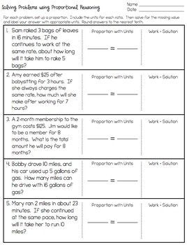 Proportions Word Problem Worksheet - FREEBIE   mathics   Word ...