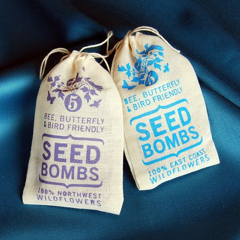 Any 2 Seed Bombs for Guerilla Gardening with by visualingual, $14.00
