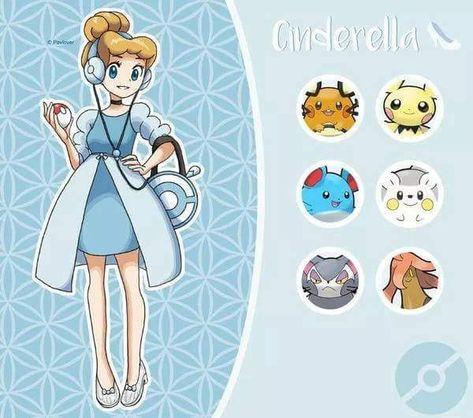 Disney princess Pokemon trainers