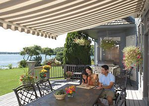 Motorized Retractable Awnings Image Is Loading Sunsetter Motorized Retractable Awning 16 Ft Xl Acrylic Retractable Awning Pergola Patio