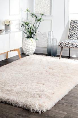 Rugs USA Ivory Terrace Fluffy Speckled Shag rug – Shags Rectangle x - Garten Dekoration Bedroom Carpet, Living Room Carpet, Rugs In Living Room, White Shag Rug, White Rug, White Fluffy Rug, White Area Rug, White Carpet, Patterned Carpet