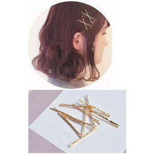 レディース ヘアピン 10本セット シンプル ゴールドカラー 髪留め
